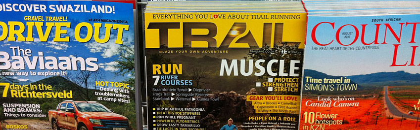 Advertise advert TRAIL magazine running South Africa marketing issue 15 newsstand