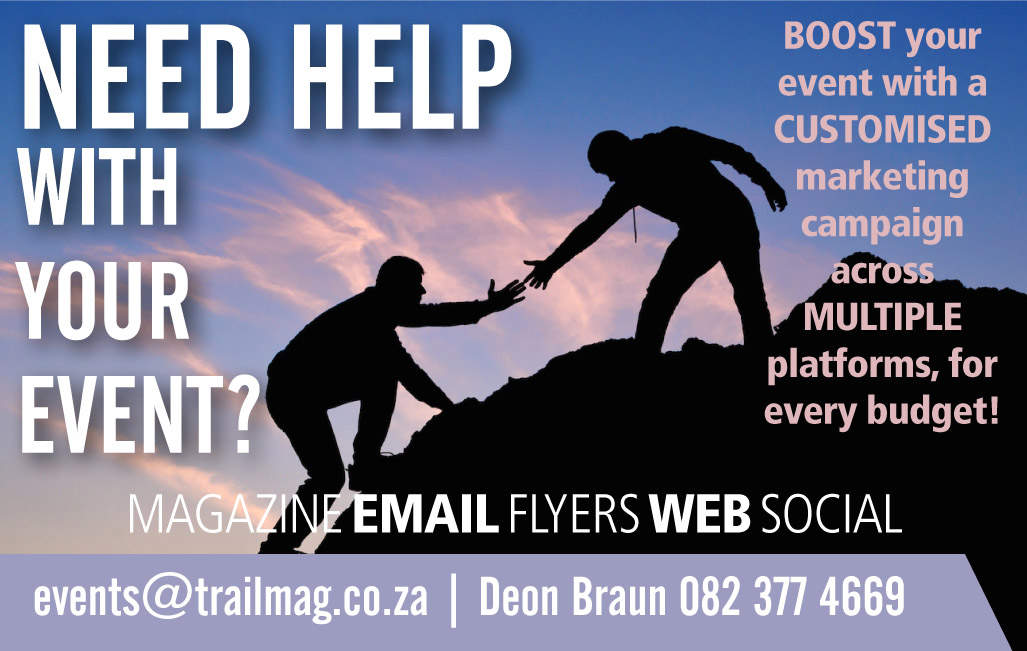 Advertise advert TRAIL magazine running South Africa marketing event help assistance