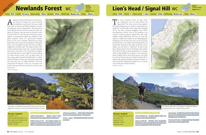Newlands Forest Signal Hill Lions Head TRAIL issue 13