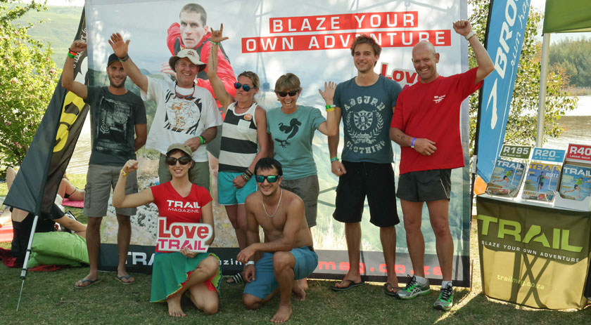 LoveTrail White Mountain 2015 The speediest of the 7km finishers celebrate their victory!