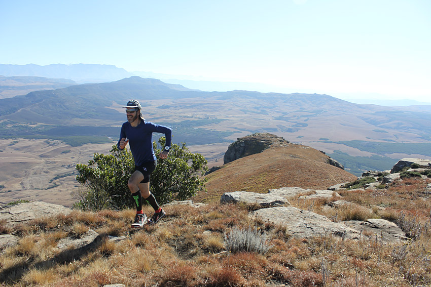 LoveTrail White Mountain top vista Deon Braun running