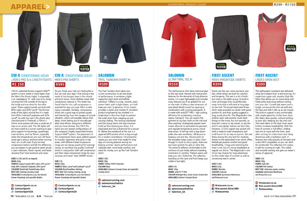 Apparel Product Guide TRAIL 13 t13