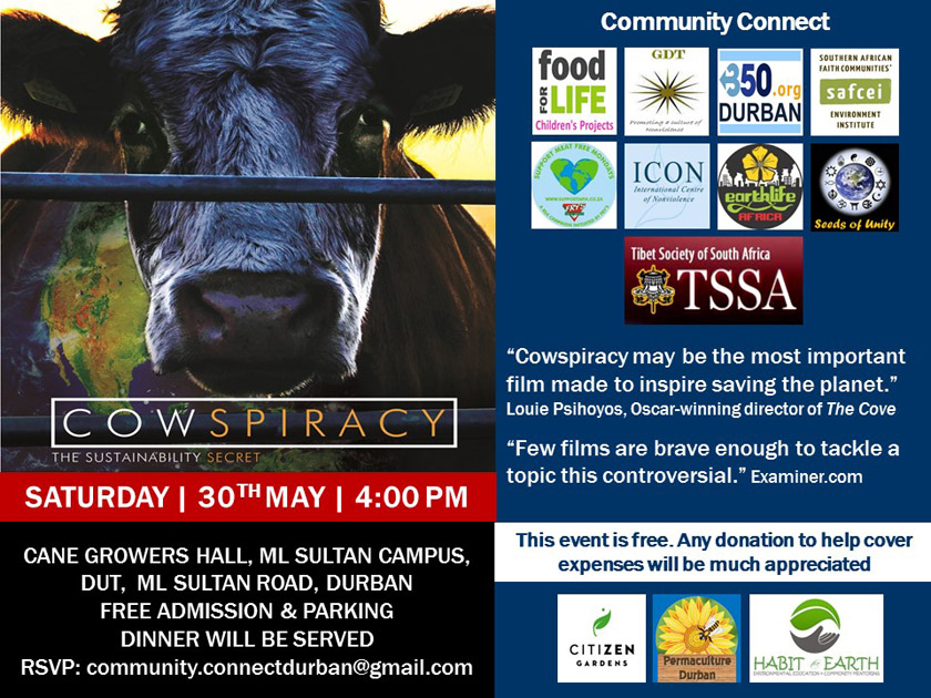 Cowspiracy Film Screening Invite Durban May 2015