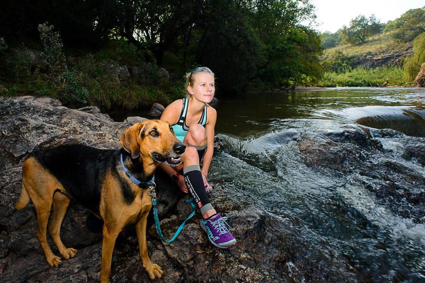 Nicolette Griffioen at Hennops River