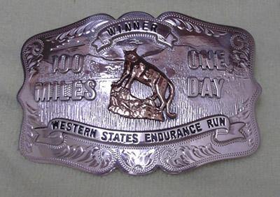Western States 100 Belt buckle