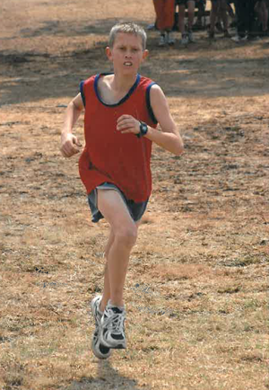 Johardt van Heerden, aged 11, competing in the National BCVO School Cross Country Championships in 2005.