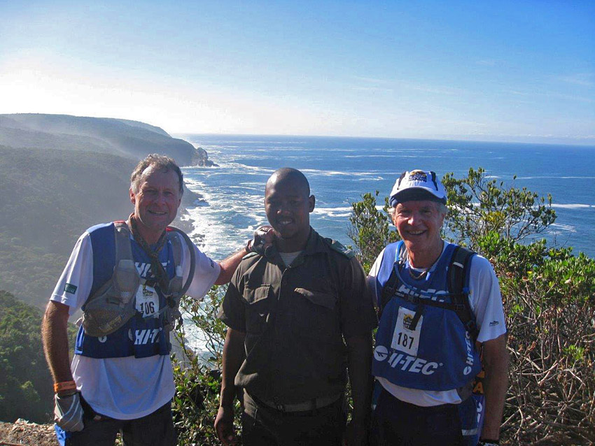 John Brimble Otter Trail Run with Joe Tyrrell and SanParks ranger