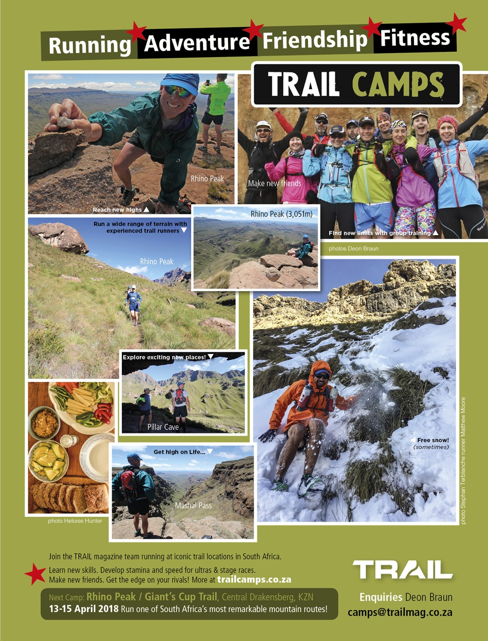 Trail Camp Mountain Camp Rhino Peak Drakensberg 11-13 April 2018