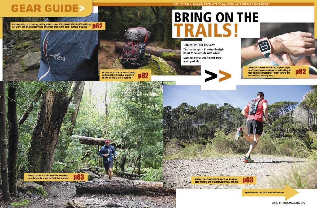 Product guide gear TRAIL 17