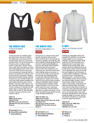 Product Guide TRAIL 17 The North Face K-Way