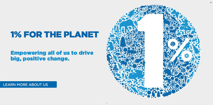1% for the Planet One Percent landing page