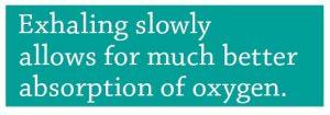 Exhale slowly oxygen