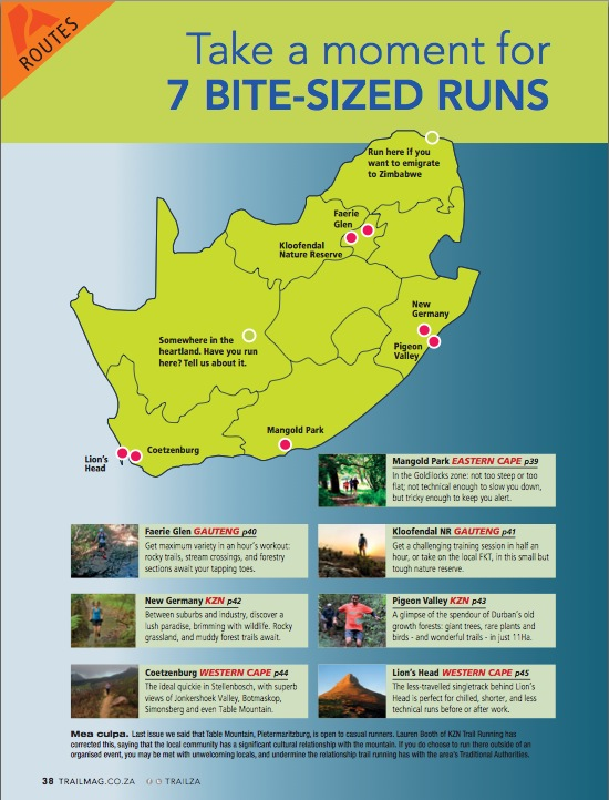 7 bit-sized quick runs South Africa