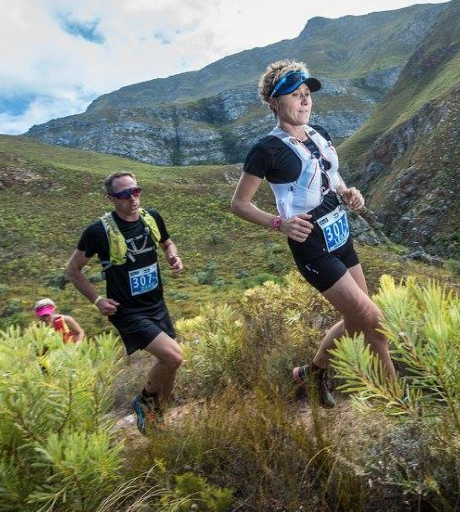 Leilani Scheffer and Dawid Visser of team Asics Beat the Sun at AfricanX 2016 photo Tobias Ginsberg