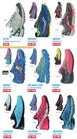 Shoe Guide Hi-Tec Brooks Saucony Salomon The North Face TRAIL 19