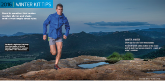 Winter Kit Tips Johardt van Heerden The North Face TNF TRAIL 19