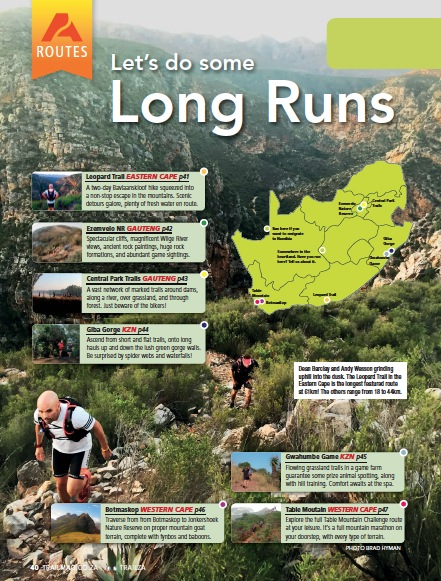 TRAIL 20 long run venues routes training
