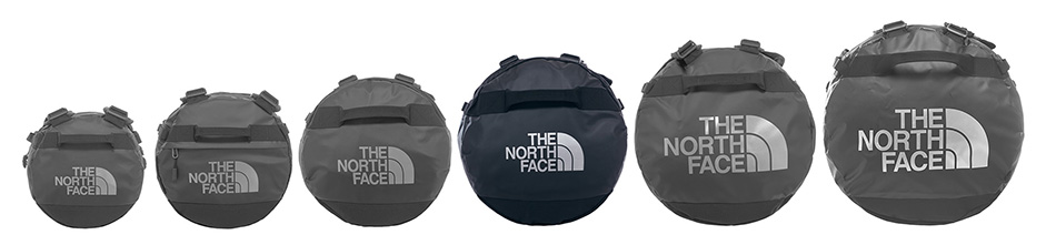 The North Face TNF Base Camp Duffel lined up TRAIL 22