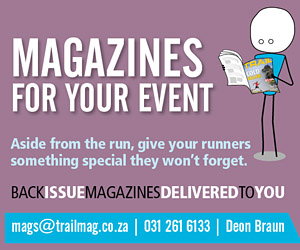 back issues of TRAIL magazine for your event