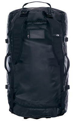 The North Face TNF duffel bag top view straps TRAIL 22