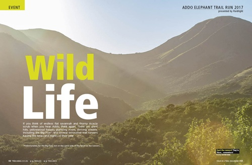 Addo Elephant Trail Run opening spread by Xavier Briel TRAIL 24