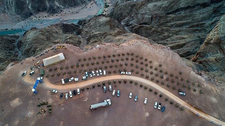 Fish River Canyon Ultra campsite on canyon edge