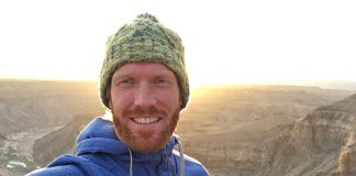Fish River Canyon Ultra selfie AJ Calitz