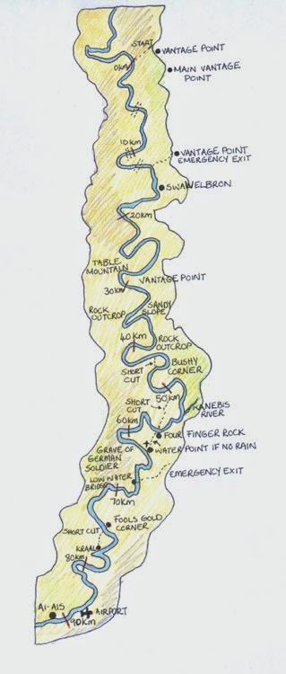 Fish River Challenge map canyon
