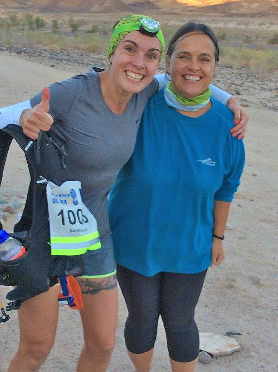 Sandra le Roux and mom Fish River Ultra
