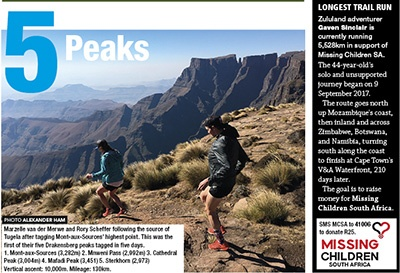 35 5 Peaks Marzelle vd Merwe Rory Scheffer MCSA Gaven Sinclair TRAIL 25