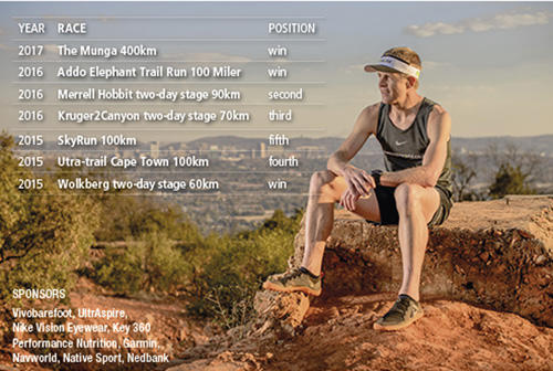 38 Bennie Roux race wins and sponsors image by Sven Musica Phonix Capture TRAIL 25