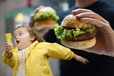 girl running away from burgers TRAIL 25