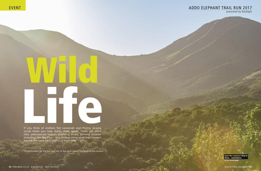 Addo Elephant Trail Run 2017 article intro dps spread by Xavier Briel TRAIL 24