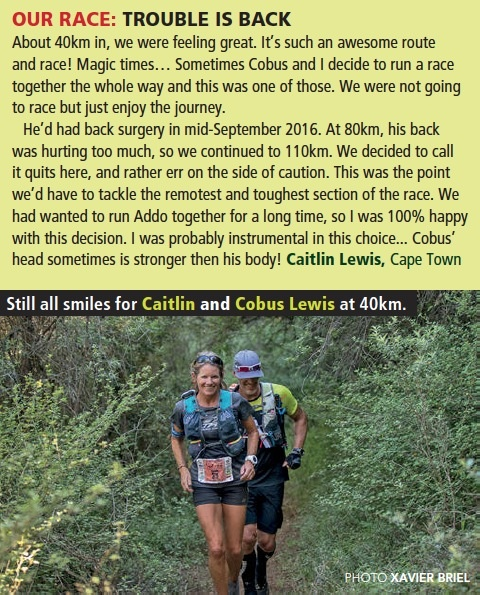 Caitlin Lewis and Cobus Team C Addo Elephant Trail Run by Xavier Briel TRAIL 24