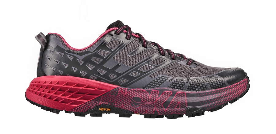 Hoka Speedgoat 2 women red grey competition website 900 pixels t26