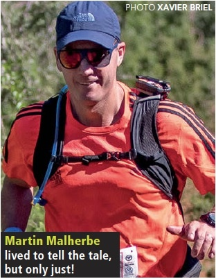 Martin Malherbe at Addo Elephant Trail Run 2017 by Xavier Briel TRAIL 24