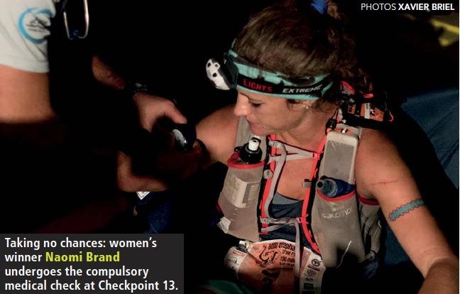 Naomi Brand medical check Addo Elephan Trail Run 2017 winner by Xavier Briel TRAIL 24