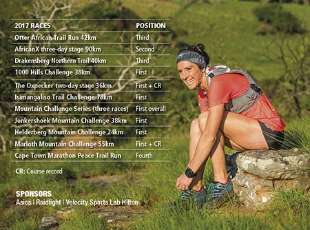 Carla van Huyssteen races sponsors TRAIL 26 by Anthony Grote