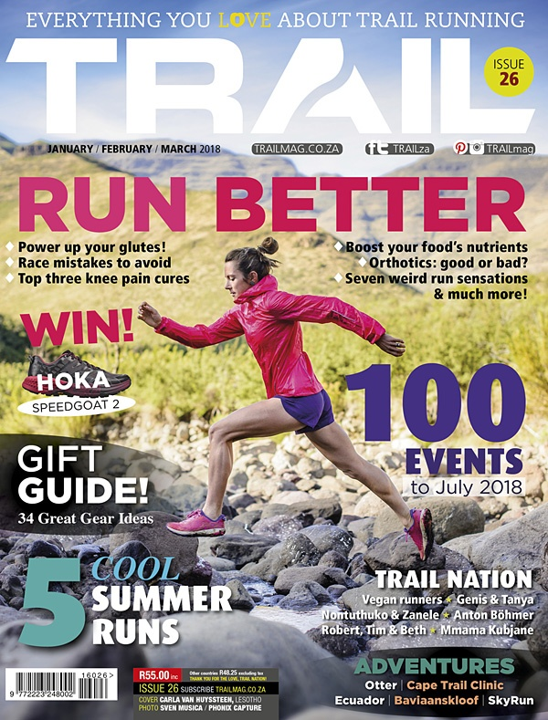 TRAIL magazine cover issue T26 Carla van Huyssteen