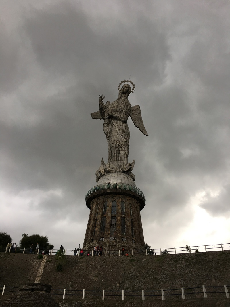 Statue El Panecillo Quito Ecuador rabies article Photo Deon