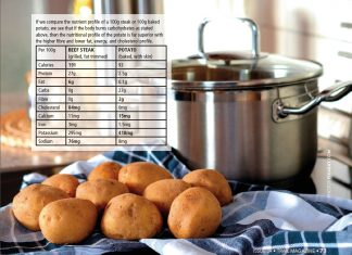 potato vs steak starch TRAIL 24