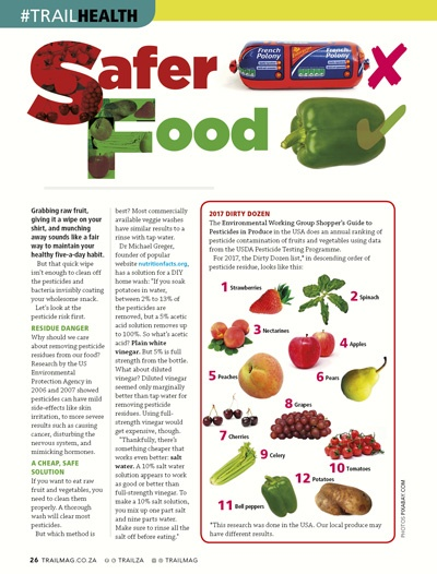 Safer food pesticide listeria TRAIL 27