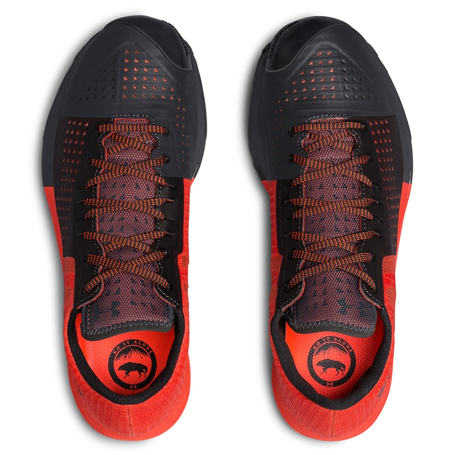 Under Armour Horizon KTV trail shoe competition giveaway top view red model