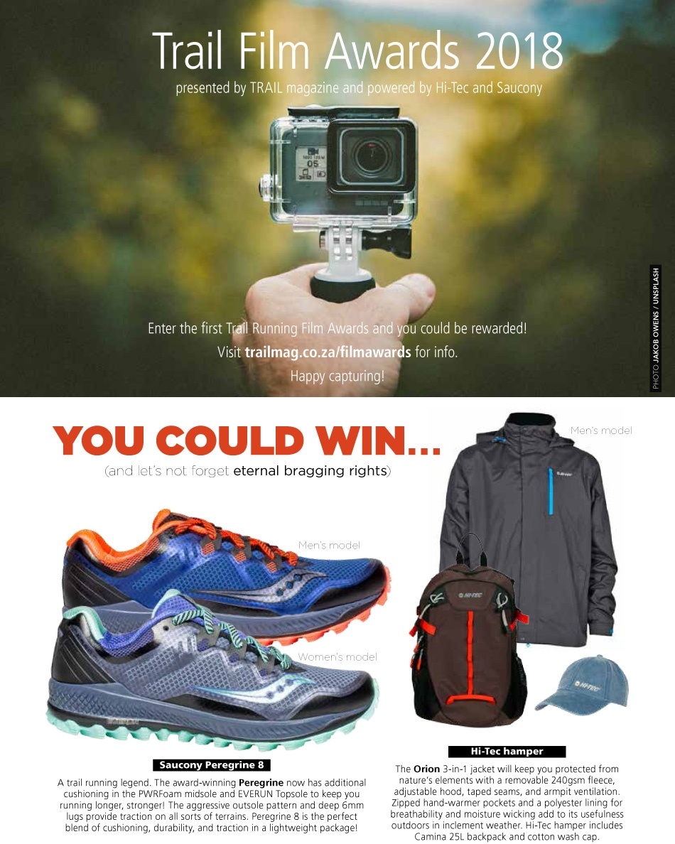 TRAIL Film Awards 2018 t28 Saucony Hi-Tec sponsors