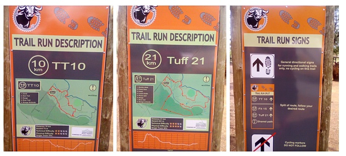 Buffelsdrift Trail Park Time Trial 10 Tuff 21 signboards