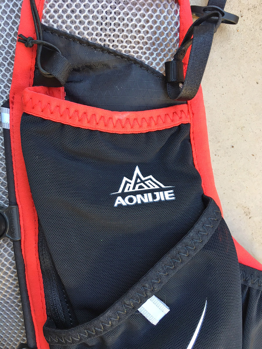 Aonijie Withwind 5L backpack TRAIL magazine review stitching stitching close detail