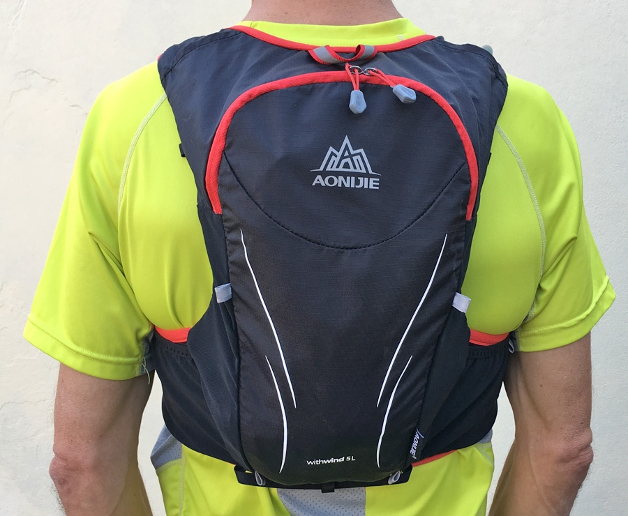 Aonijie Withwind 5L hydration vest worn back