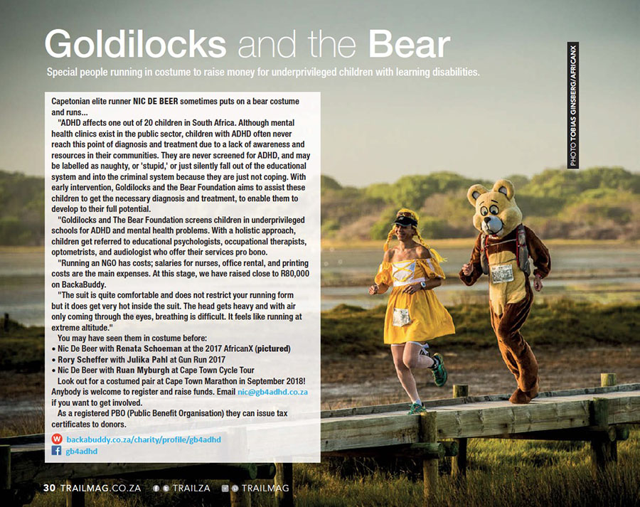 Goldilocks and The Bear Nic de Beer Renata Schoeman by Tobias Ginsberg TRAIL 28