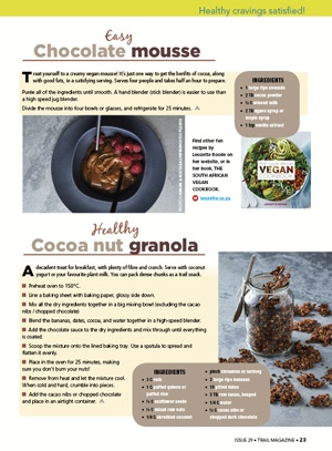 cocoa recipes Leozette Roode TRAIL 30