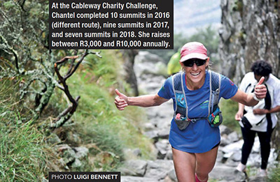 Chantel Nienaber Cableway Charity Challenge Platteklip Gorge by Luigi Bennett TRAIL 30